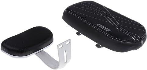 Segolike Children Bicycle Bike Back Seat PU Leather Saddle Rear Cushion with Back Support