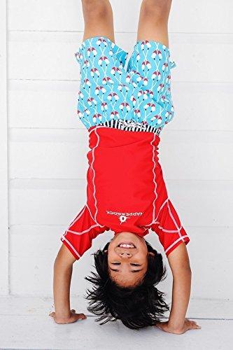Snapper Rock Jungen UPF 50+ UV Schutz Schwimmbad Bade Shorts Surf Shorts für Kinder & Jugendliche Blau 4-5 Jahre, 104-110cm -