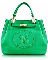 Damen Grün Einkaufstasche Langen Riemen Handtasche - KCMODE
