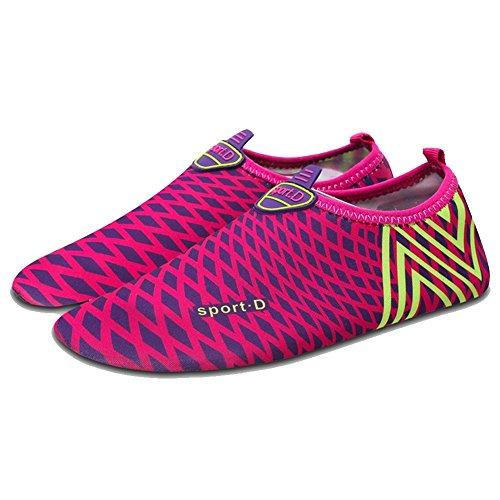 ELEAR® Modern Unisex Mesh Badeschuhe Surfschuhe Wattschuhe Strandschuhe Aqua Schuhe für Damen & Herren Rosa