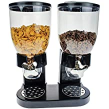 mikamax - Dispensador de Copos de Maíz - Cornflakes Dispenser - Negro - Elemento de Desayuno