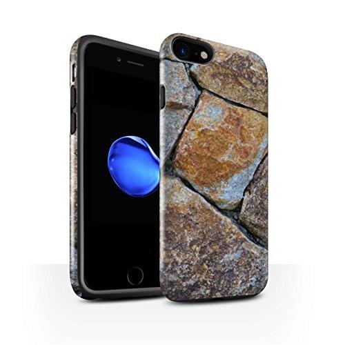 STUFF4 Glanz Harten Stoßfest Hülle / Case für Apple iPhone 7 / Pack 15pcs / Stein/Rock Kollektion Medium Steinmauer