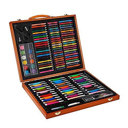 Deluxe Art Set Travel Kit Künstler Aquarell Feld Sketch Set Professionelle Art Kit für Kinder (Color : Natural, Size : Free size) -