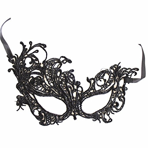 PromMask Face mask shield veil guard screen domino false front Halloween mask nightclub makeup dance mask flame