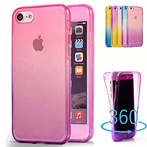 Happy360, Iphone 5S / Iphone SE Case, Shockproof TPU 360 Degree Protective Clear Crystal Rubber Soft Case Cover for Iphone 5S / Iphone SE, Pink to