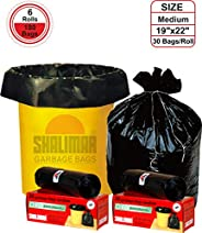 Shalimar Premium OXO - Biodegradable Garbage Bags (Medium) Size 48 cm x 56 cm 6 Rolls (180 Bags) (Black Colour