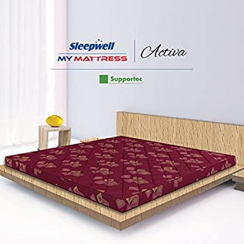 Sleepwell Activa Supportec Mattress - (75 x 48 x 4 Inches, Maroon)