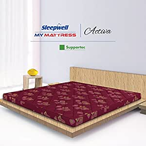 Sleepwell Activa Supportec Mattress - (72 x 30 x 4 Inches, Maroon)