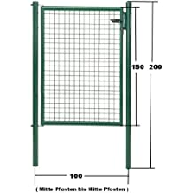 GAH Wellengitter-Tor grün Höhe 150cm x Breite 100cm