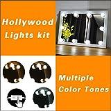 LED Beleuchtungs-Set für Makeup-spiegel mit Mehreren Farbtönen für Warmes, Natürliches und Tageslicht. Spiegel-Umrandung mit Lichtern im Hollywood-Stil. Smarter Berührungs-Dimmer Speichert Ihre Einstellungen. Einfaches Anbringen Ohne Werkzeug