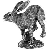 Reflexionen Silber Hase Running Figur