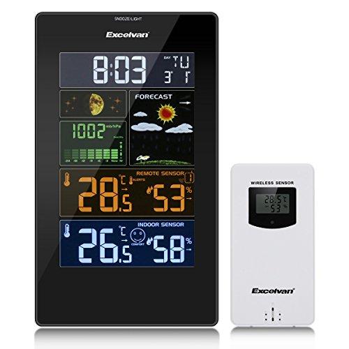 Excelvan PT3389 Estación Meteorológica con Pantalla LCD, Soporte par