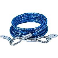 ZGBZZ Cuerda de remolque, cable de coche, cuerda fuerte de rescate de tracción de coche, 5 metros, correa de carro de arrastre de coche, correa de remolque, diámetro del alambre (sin funda) 7.5-9mm