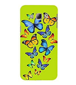 ifasho Designer Back Case Cover for Samsung Galaxy A8 (2015) :: Samsung Galaxy A8 Duos (2015) :: Samsung Galaxy A8 A800F A800Y (Butterfly Diferent Colors Multi Colour)