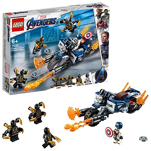 LEGO 76123 Marvel Avengers Endgame Outriders Attack Captain America's  Motorcycle Toy, Super Heroes Playset Best Price and Cheapest