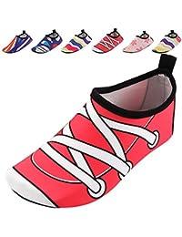 SUADEX Unisex Niños Niña Zapato de Agua Zapatos de Playa Natación Surf Escarpines Aire Libre Calzado de Playa Piscina Yoga