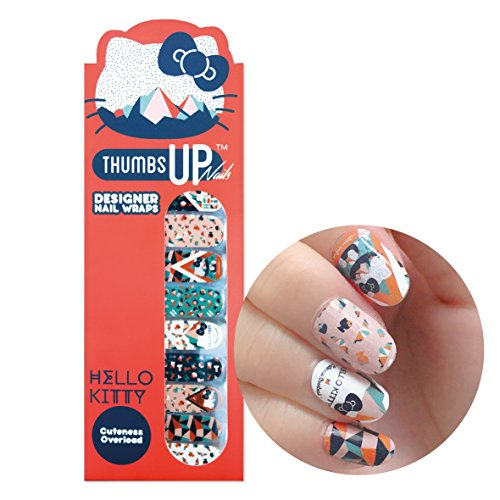 Hello Kitty Special Edition kindchenschema Überlast Nail Wraps By ThumbsUp Nägel/Adhesive/Nail Polish Strips/Full Deckung Nail Art-Sticker/20Packungen pro Pack Hello Kitty Wrap