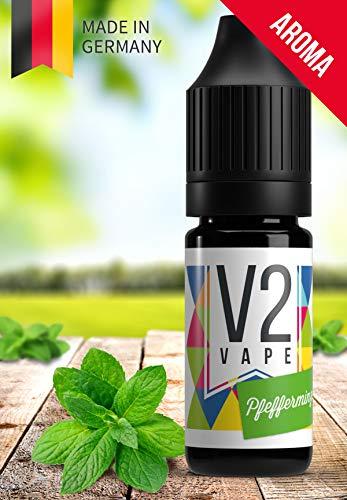 V2 Vape Pfefferminz AROMA / KONZENTRAT hochdosiertes Premium Lebensmittel-Aroma zum selber mischen von E-Liquid / Liquid-Base für E-Zigarette und E-Shisha 50ml 0mg nikotinfrei - Pfefferminz-honig