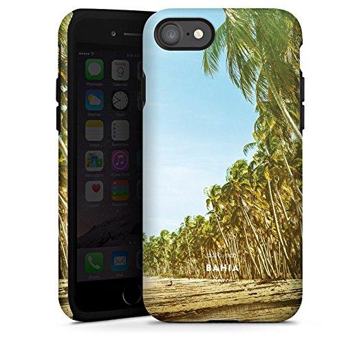 Apple iPhone X Silikon Hülle Case Schutzhülle Palmen Urlaub Strand Tough Case glänzend