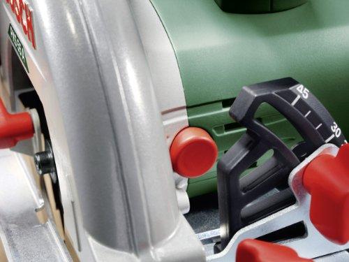 Bosch DIY Kreissäge PKS 55 A, 1 Hartmetallsägeblatt Speedline Holz, Parallelanschlag, Karton (1200 W, Nenn-Ø Sägeblatt 160 mm, 0 – 55 mm Schnitttiefenbereich bei 90°) - 4