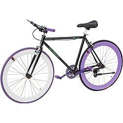 Helliot Bikes Fixie Tribeca H19 Bicicleta Urbana, Unisex Adulto, Negro, Estándar