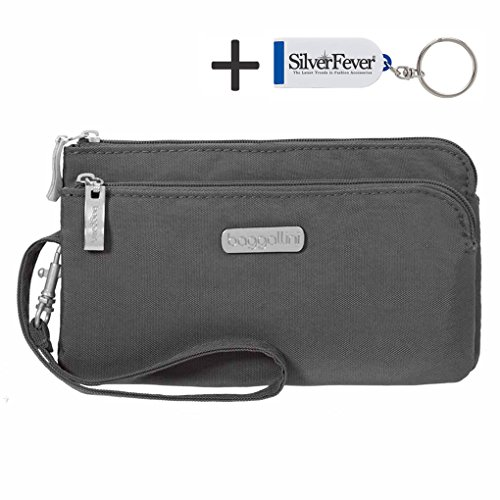 baggallini-rfid-double-zip-wristlet-organizer-charcoal