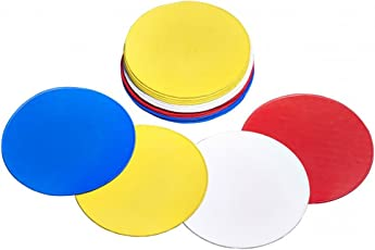 SAHNI SPORTS Rubber Flat Agility Dot Marker, Pack of 10, Multi-Color
