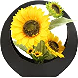 @Home  Sunflower Plastic Plant Container (29.01 Cm X 8.99 Cm X 29.01 Cm, Yellow)