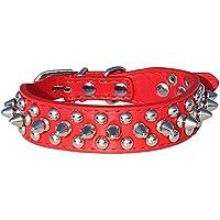 onewiller Leder mit Spike-Nieten Halsband 6/20,3cm breit für kleine/xx-small Rassen und Welpen