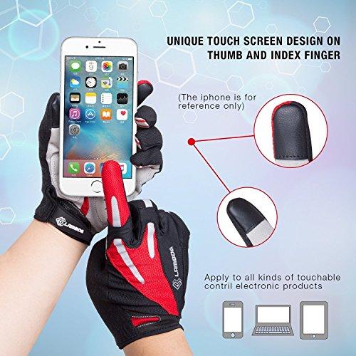 4ucycling Touchscreen Fahrradhandschuhe mit Gel Padded Super Atmungsaktiv Radsport Handschuhe XL - 2