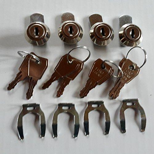 9 Naturholz (Naturholz-Schreinermeister Briefkastenschloss Zylinderschloß Bohrung 18 mm/Tiefe ca.9,5mm Ersatzschloss (8 Schlüssel 4 Schlösser))