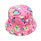Bescita Toddler Baby Kids Boys Girls Floral Pattern Bucket Hats Sun Helmet Cap for Kid 2-6 Years Old (Purple, Size=UK5)