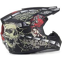 DUEBEL Casco de Motocrós de Calavera Pirata para BMX / Downhill / Cross-country / Motorcross (Pirate--Matt Black, M)