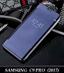 For Samsung C9 Pro inch New Luxury Smart Clear View Mirror Flip Cover with perfect fitting and cutouts.