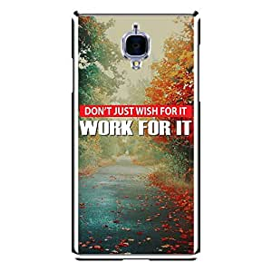 "Bhishoom Designer Printed 2D Transparent Hard Back Case Cover for ""OnePlus 3"" - Premium Quality Ultra Slim & Tough Protective Mobile Phone Case & Cover"