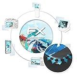atFoliX Schutzfolie für Alcatel One Touch Go Watch Folie - 3 x FX-Curved-Clear Flexible Displayschutzfolie für gewölbte Displays