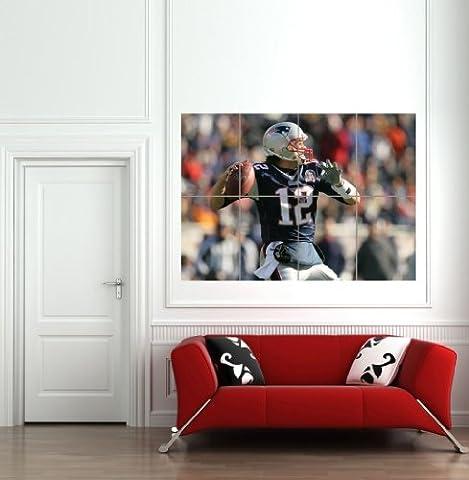 TOM BRADY NFL GIANT WALL MURAL POSTER PLAKAT DRUCK ART PRINT B639