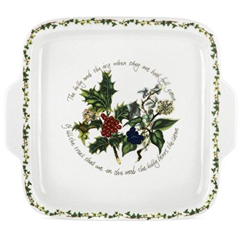 The Holly & Ivy quadratisch behandelt Tortenplatte, Keramik, Mehrfarbig -