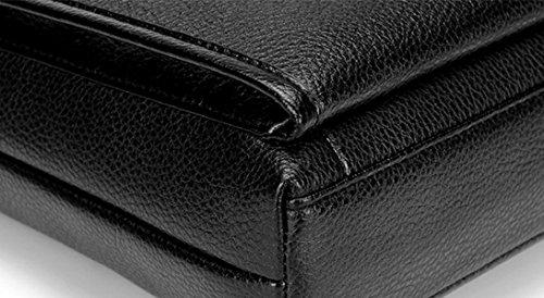 Beiläufige Art Und Weise Wilder Querabschnitt Geschäftshandtaschenmann-Aktenkoffer-Computerbeutel-Schulterbeutel Black