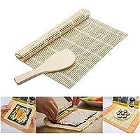 New DIY Mould Roller Mat Rice Paddle Set Sushi Maker Kit Rice Roll Mold Kitchen