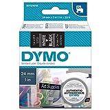 Dymo S0720510 D1-Etiketten (Selbstklebend, für den Drucker LabelManager, 24 mm x 7 m Rolle) weiß auf schwarz