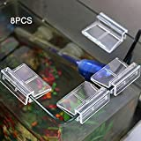 FAVOLOOK 8Pcs Aquariums Fish Tank Acrylic Clips Glass Cover Support Holders Universal Lid Clips for Rimless Aquariums