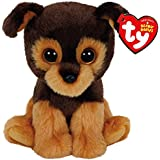 Carletto Ty 42126 - Tucker - perro, Beanie Babies, 15 cm, marrón