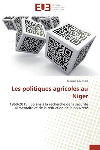 Les politiques agricoles au niger