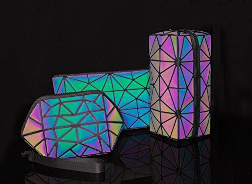 Pryzm Laser-Make-up-Taschen aus reflektierendem Material, leuchten im Dunkeln, Reise-Kosmetiktasche