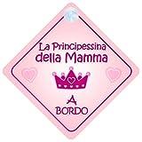 La Principessina della Mamma a Bordo adesivo bimbo / bambina / neonato a bordo adesivo macchina, bimbi, bambini, famiglia