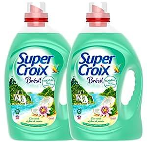 Super Croix Lessive Liquide Brésil 3L / 40 Lavages - Lot de 2