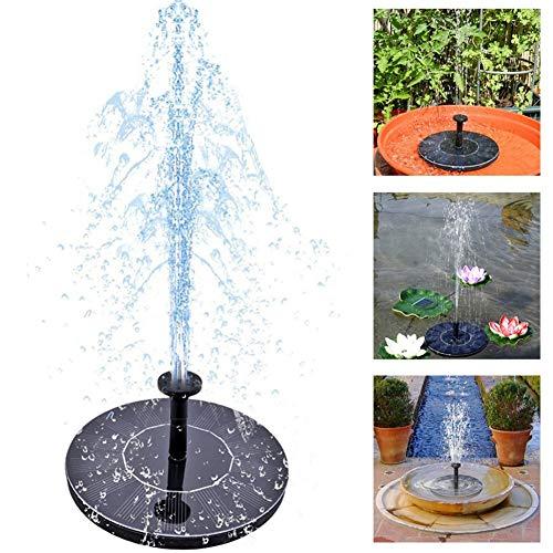 Solar Springbrunnen Solar Teichpumpe Solar-Wasser-Brunnen-Pumpe Solar-Brunnen im Freien Garten Miniatur Floating Brunnen Garten Dekoration kleine Brunnen (Floating-spray-brunnen)