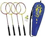 Schildkrot Fitness Unisex's Badminton 4-Players Set, Multicoloured, Medium