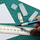 #4: Cutting Mat A3 Double Sided / Green / Self Healing / Pattern : inch cm mm / Imperial Metric / 18 x 12 inch / 450 x 300 mm / 45 x 30 cm / thickness 3 mm
